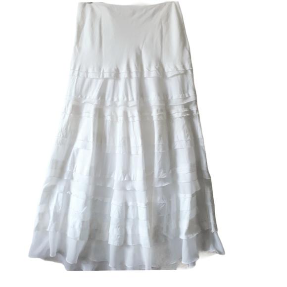 White House Black market linen skirt size 4